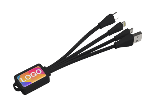 Multi - Laddnings USB-kabel med tryck