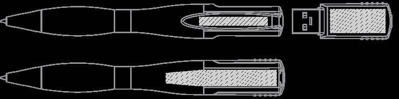 USB-penna Screentryck