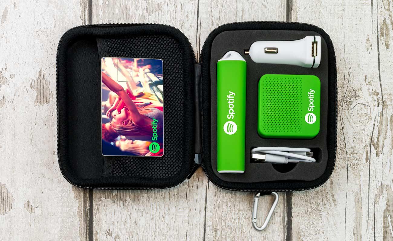 Impact L - USB Minne Med Tryck, Custom Portable Charger, Custom Car Charger och Högtalare Med Tryck