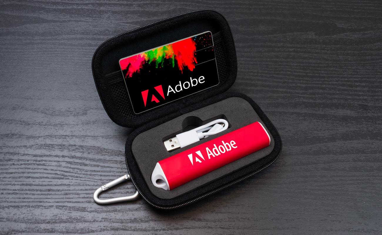 Impact S - USB Minne Med Tryck och Custom Portable Charger