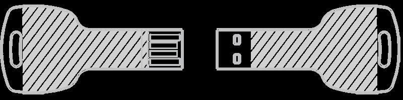 USB-minne Lasergravyr