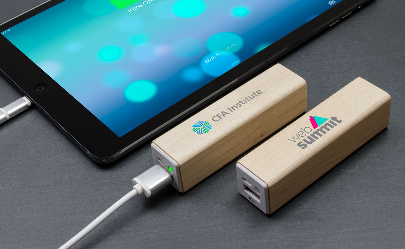 Maple - Powerbank med Tryck