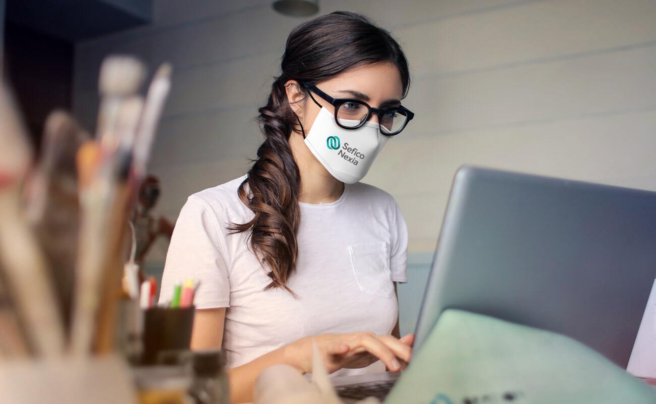 Sky - Anpassade Ansiktsmasker