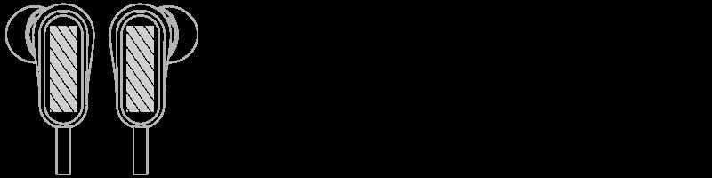 Hörlurar Screentryck