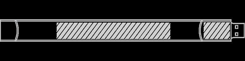 USB Armband Screentryck