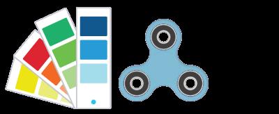 Pantone® Referenser Fidget Spinner